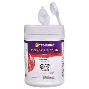 100//Canister ACL 7600 Presaturated Wipes with 70/% IPA and 30/% DI Water