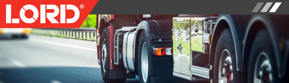 LORD Logo and photo of the wheels of a semi truck