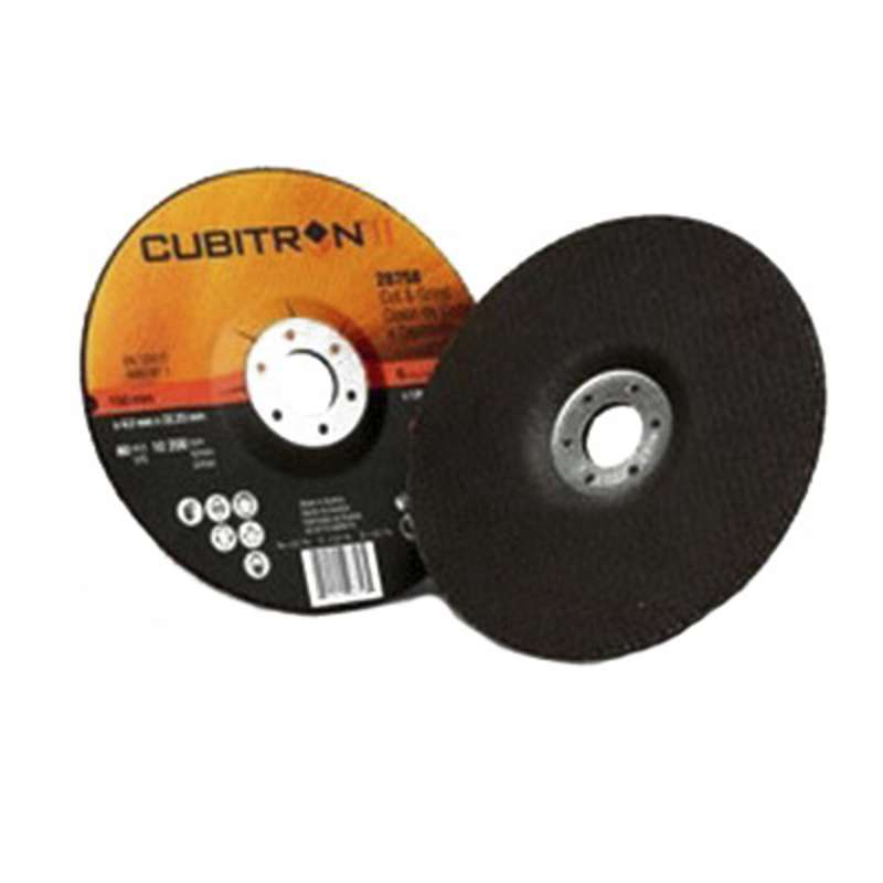 3M™ Cubitron™ II Cut and Grind Wheel T27 Quick Change 28765, 7 in x 1/8 in x 5/8-11 in, 10 per inner, 20 per case