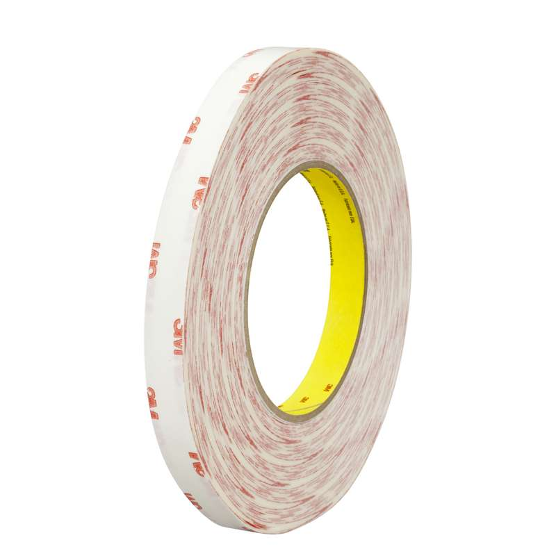 3M™ Double Coated Tissue Tape 9456 Clear, 1 in x 72 yd 4 mil, 36 rolls per case