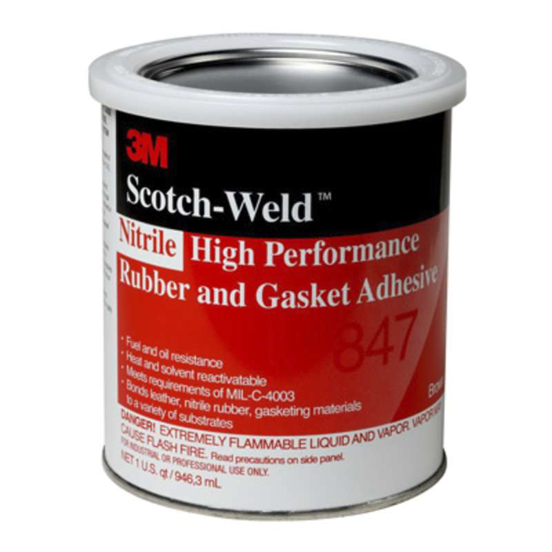 3M™ Nitrile High Performance Rubber And Gasket Adhesive 847 Brown, 1 Gallon, 4 per case