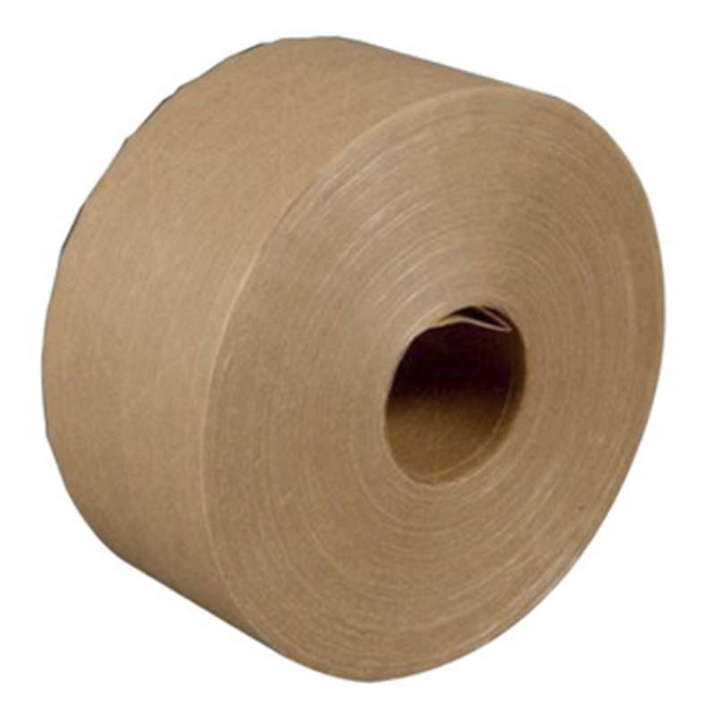 3M™ Water Activated Paper Tape 6142 Natural Medium Duty, 3 in x 600 ft, 10 rolls per case Bulk