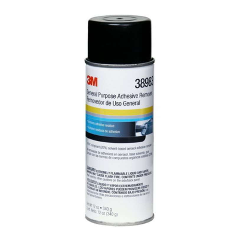 3M™ 38983 General Purpose Adhesive Remover, Clear, 12 oz Aerosol Can