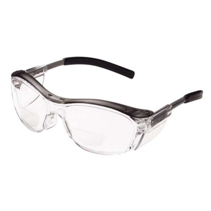 3M™ Nuvo™ Reader Protective Eyewear, 11435-00000-20 Clear Lens, Gray Frame, +2.0 Diopter 20 ea/case