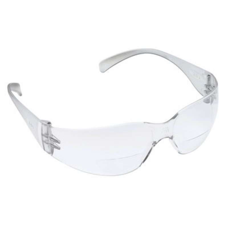 3M™ Virtua™ Reader Protective Eyewear, 11515-00000-20 Clear Anti-Fog Lens, Clear Temple, +2.5 Diopter 20 ea/case