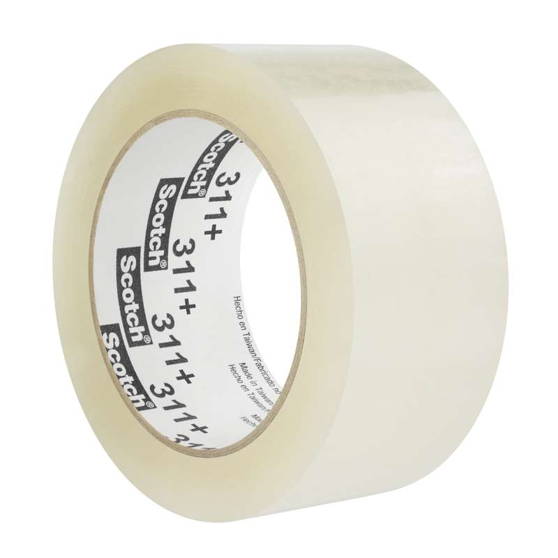 311+ High Tack Sealing Tape, Clear, 48mm x 100m, 36/Case
