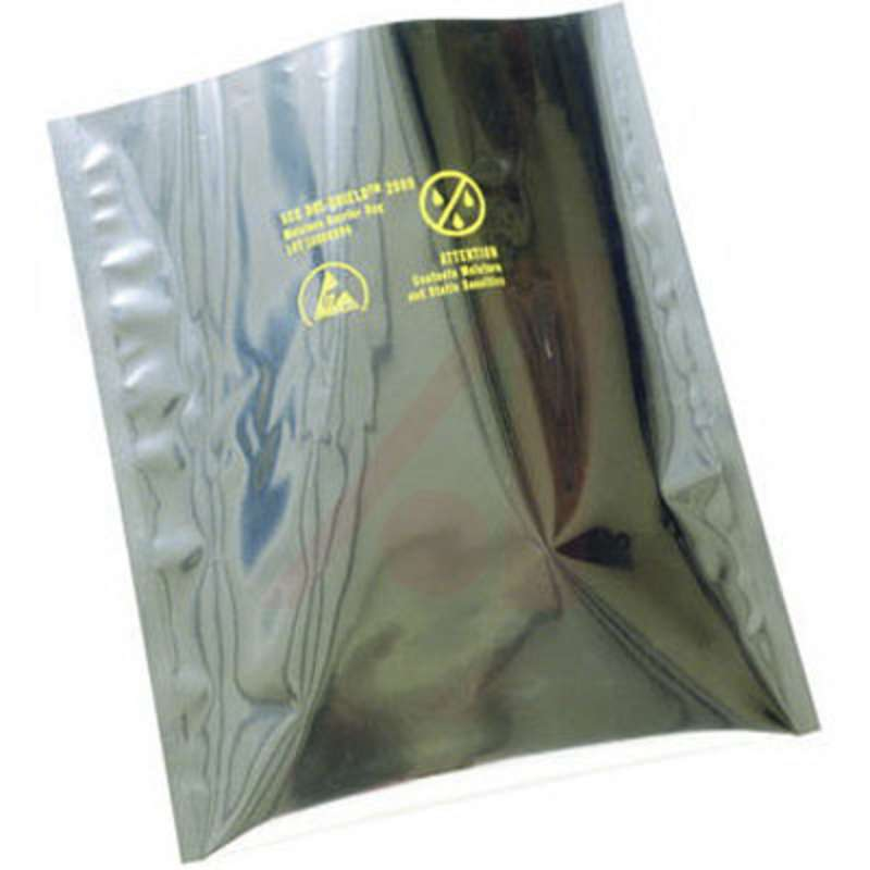 "Dri-Sheild 2000 ESD-Safe 3.6mil Moisture Barrier Bag for ESD/RFI/EMI Protection, 4 x 6"", 100 per Package"