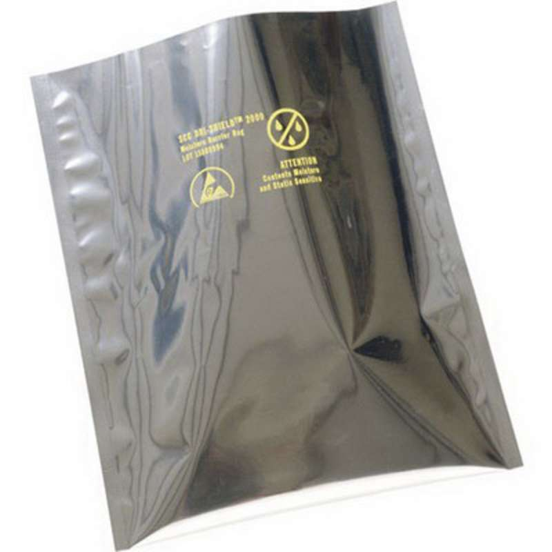 "Dri-Sheild 2000 ESD-Safe 3.6mil Moisture Barrier Bag for ESD/RFI/EMI Protection, 8 x 10"", 100 per Package"