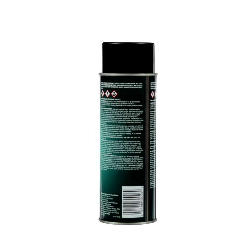 3M™ Hi-Tack 76 Spray Adhesive, Clear, Net Wt 18.1 oz, 12/case, NOT FOR SALE OR USE IN CA, CONSULT LOCAL REGS