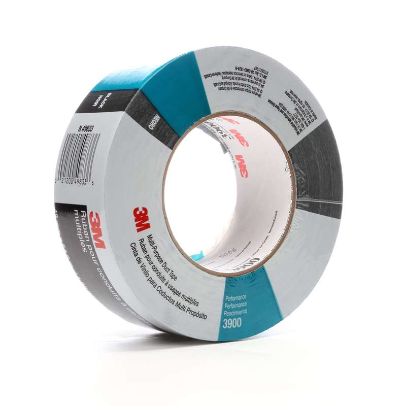 3M™ Multi-Purpose Duct Tape 3900 Black, 48 mm x 54 8 m 7 7