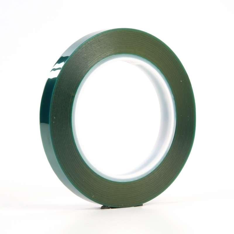 3M 8992 2 in x 72 yd Green Polyester Powder Coating High Tempratute Tape