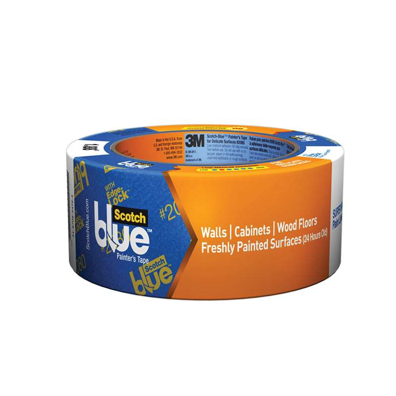 ScotchBlue™ Painter's Tape 2080EL-18E, .70 in x 60 yd (18 mm x 54,8 m), 1 roll/pack