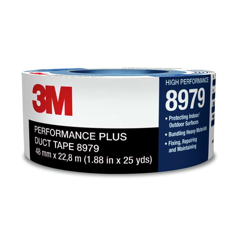 3M™ Performance Plus Duct Tape 8979 Slate Blue, 72 mm x 54.8 m 12.1 mil, 12 per case