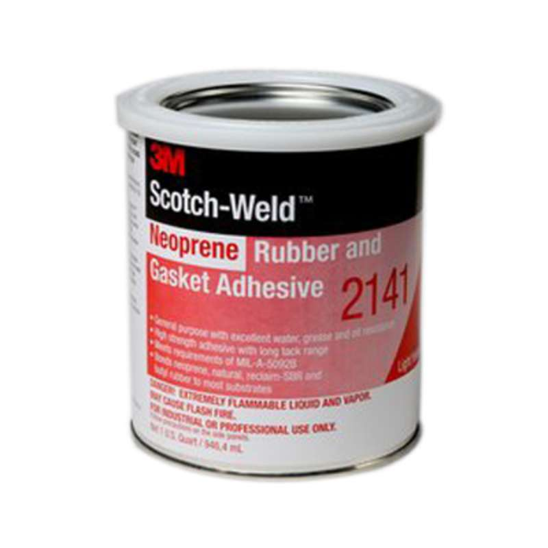 3M™ Scotch-Weld™ Neoprene Rubber And Gasket Adhesive 2141 Light Yellow, 1 Gallon, 4 per case. Note: This product is restricted for industrial applications in the following states: CT, DC, DE, ME, MD, MA, NJ, NY, PA, RI, VA, IL, IN, OH and NC. Exempt