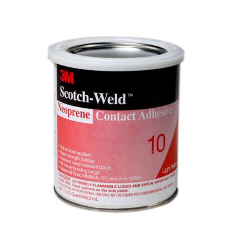 3M™ Scotch-Weld™ Neoprene Contact Adhesive 10 Light Yellow, 1 qt, 12 per case
