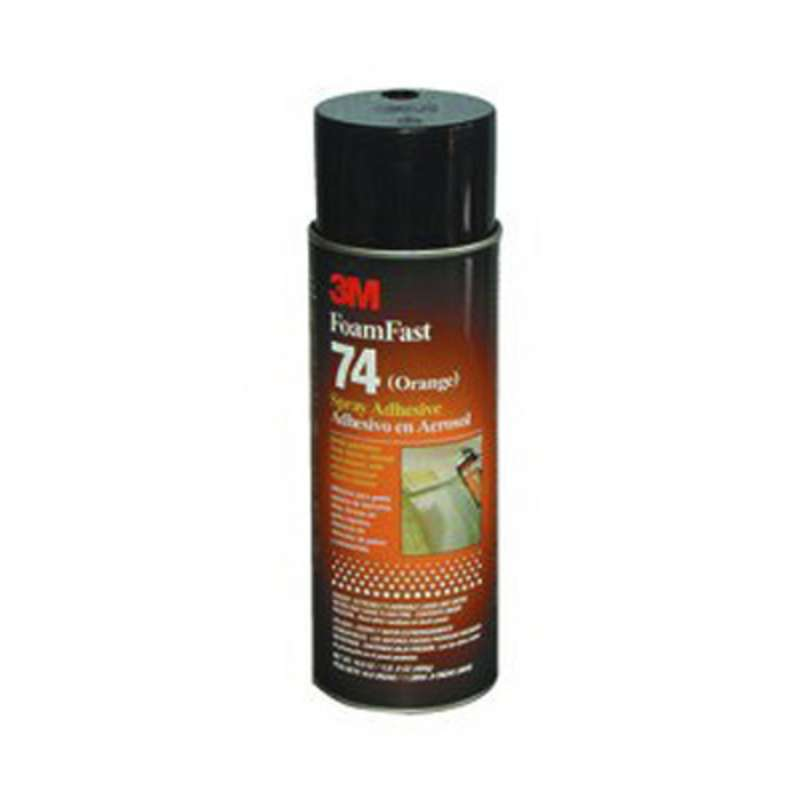 3M™ Foam Fast 74 Spray Adhesive, Clear, Net Wt 16.9 oz, 12/case, NOT FOR SALE OR USE IN CA, CONSULT LOCAL REGS