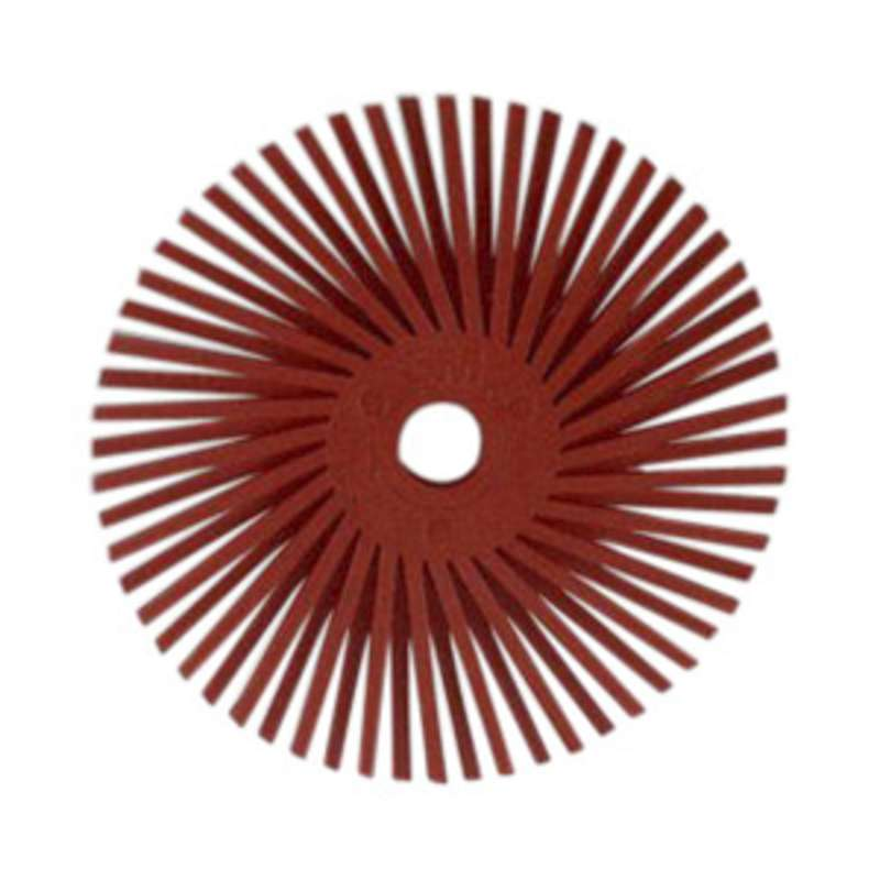 Scotch-Brite™ Radial Bristle Disc, 3/4 in x 1/16 in 220, 192 per case