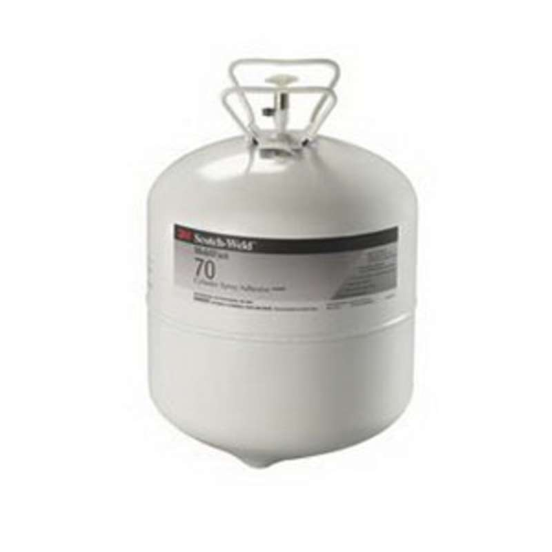 3M™ HoldFast 70 Cylinder Spray Adhesive, Clear, Large Cylinder (Net Wt 27.3 lb), 1/case