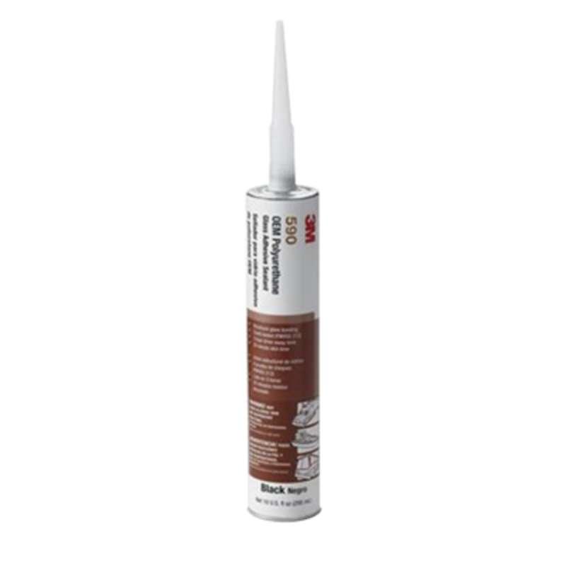 3M™ Polyurethane Glass Adhesive Sealant 590, Black, 310 mL Cartridge, 12/case