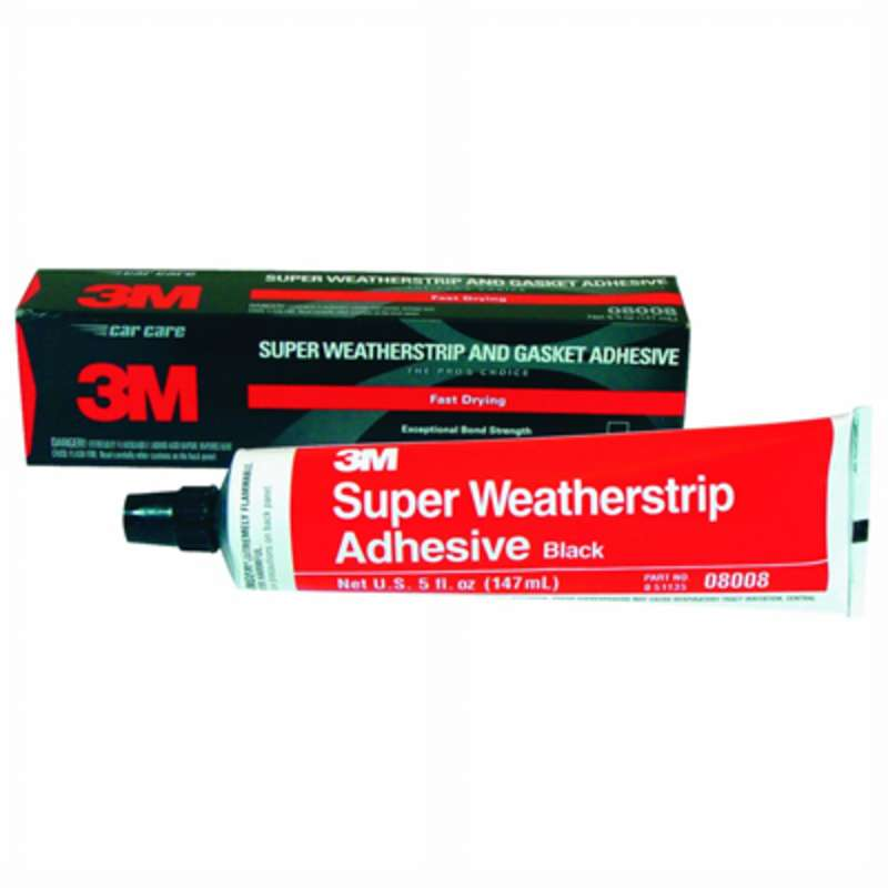 3M Black Super Weatherstrip and Gasket Adhesive, 08008, 5 fl oz