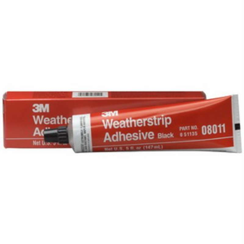 3M™ 08011 Weather-strip Adhesive, 5 oz Tube, Black  6/CA