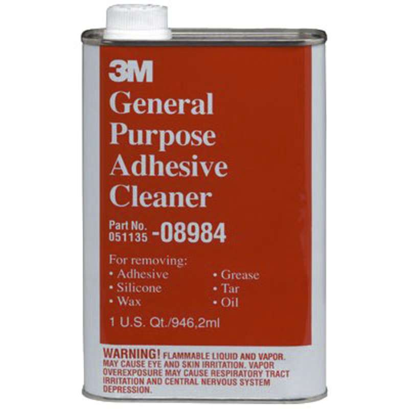 3M™ General Purpose Adhesive Cleaner, Liquid, Clear, 1 qt