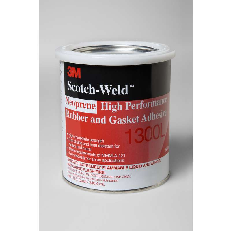 3M™ Scotch-Weld™ Neoprene High Performance Rubber and Gasket Adhesive 1300L Yellow, 1 gal, 4 per case