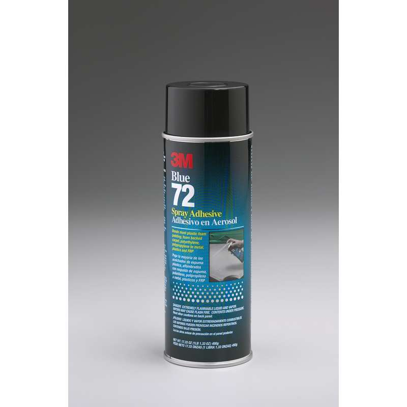 3M™ Pressure Sensitive Spray Adhesive 72, BL, Net Wt 17.3oz, 12/case, NOT FOR SALE OR USE IN CA, CONSULT LOCAL REGS