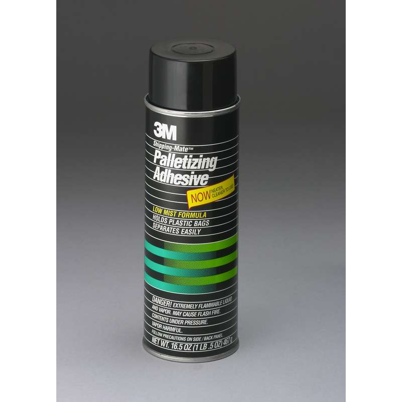 3M™ Shipping-Mate™ Palletizing Adhesive, Clear, Net Wt 16.7 oz, 12/case, NOT FOR SALE OR USE IN CA, CONSULT LOCAL REGS