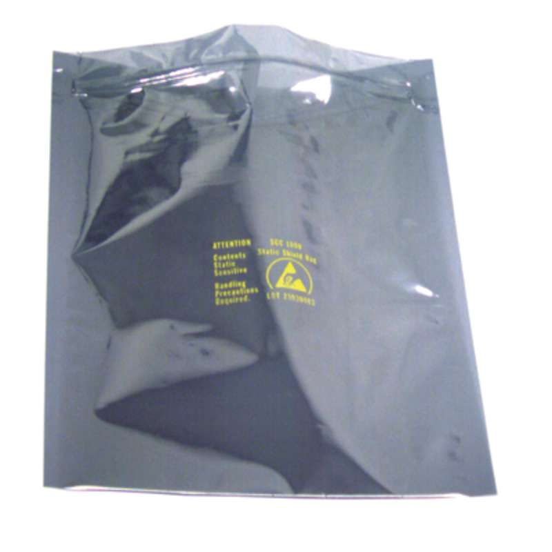 "1000 Series 2.8mil Zip Top Metal-In Static Shielding Bag, 4 x 6"", 100 per Package"