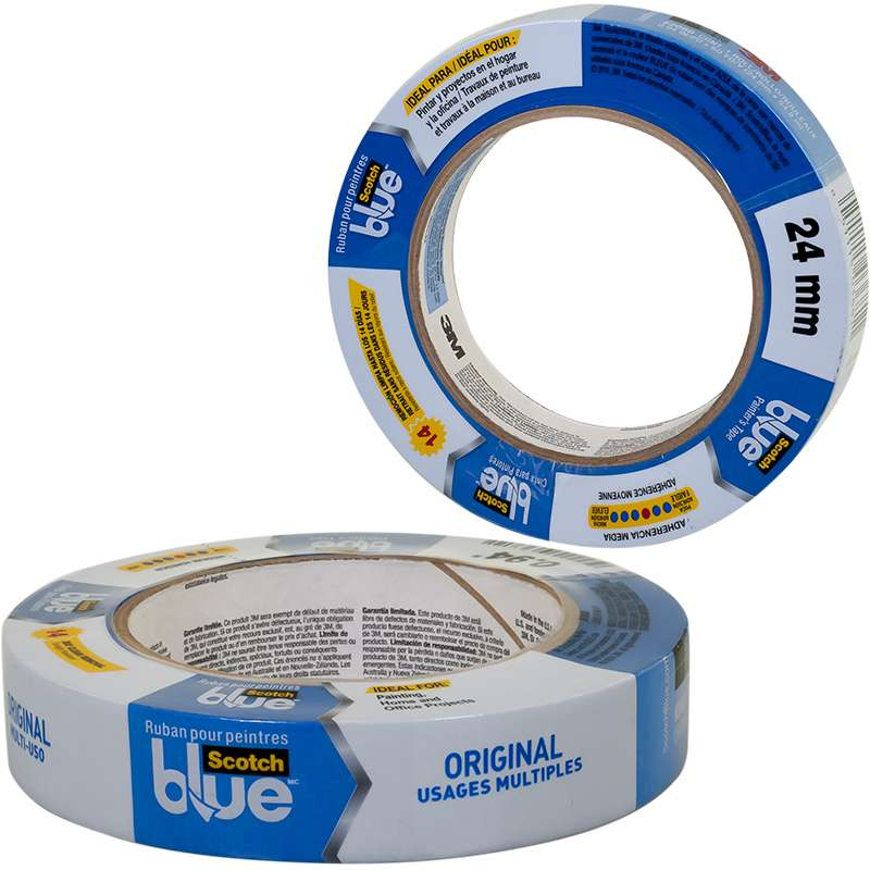 ScotchBlue™ Painter's Tape 2090-48A-CP, 1.88 in x 60 yd (48 mm x 54,8 m) Contractor Pack, 6 Rolls/Pack, 4 pks/cs