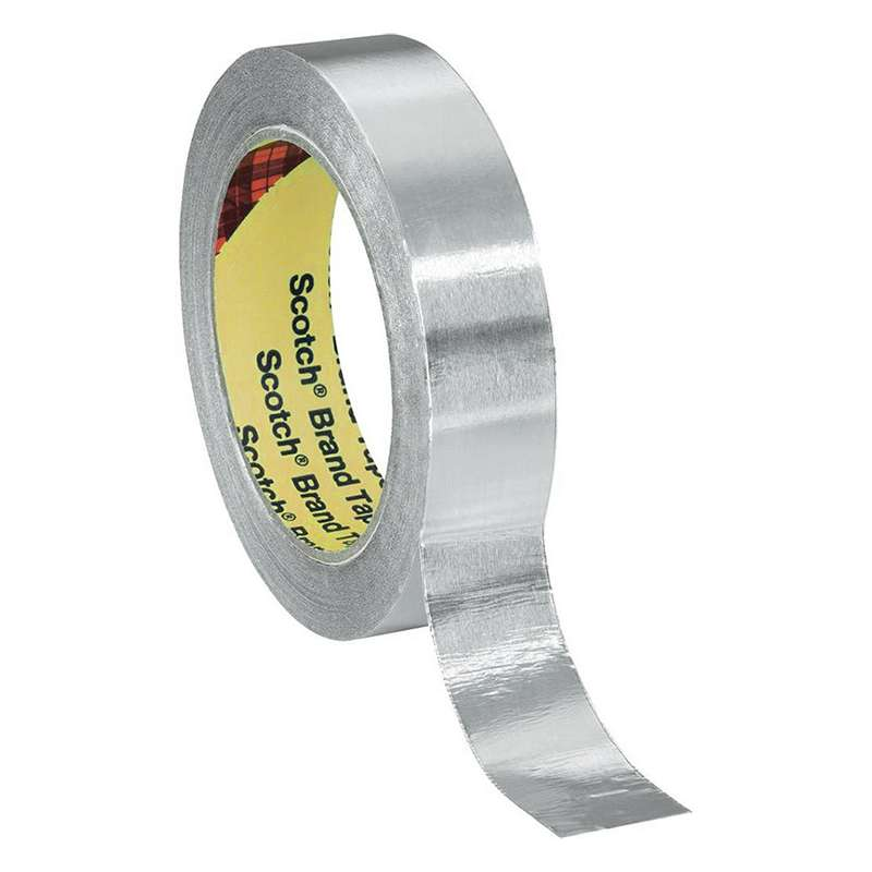 "1170 EMI Shielding Aluminum Foil Tape with Conductive Adhesive, 3.2 mil, 3/4"" x 18 yards, 12 Rolls per Case"