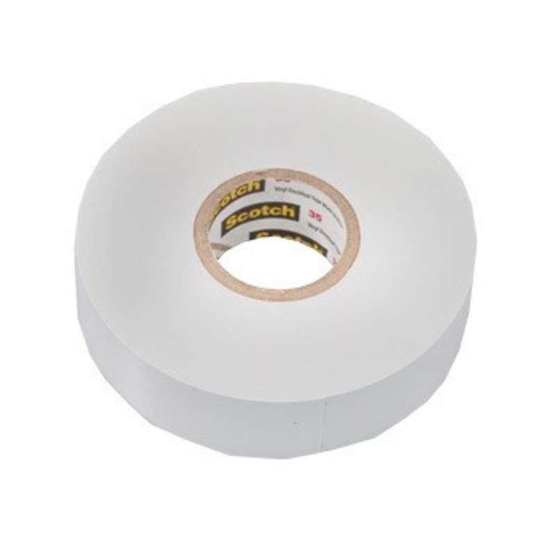 "Scotch® 35, Color Coded, Vinyl Electrical Tape, White, 3/4"" x 66'"
