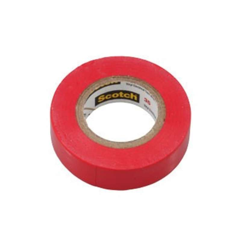 "Scotch® 35, Color Coded, Vinyl Electrical Tape, Red, 3/4"" x 66'"