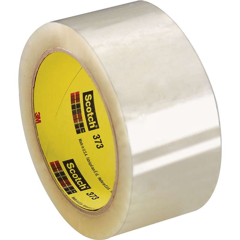 3M™ Scotch™ 373 High Performance Box Sealing Tape, 48 mm x 50 m x 2.5 mil, Clear  36/CA