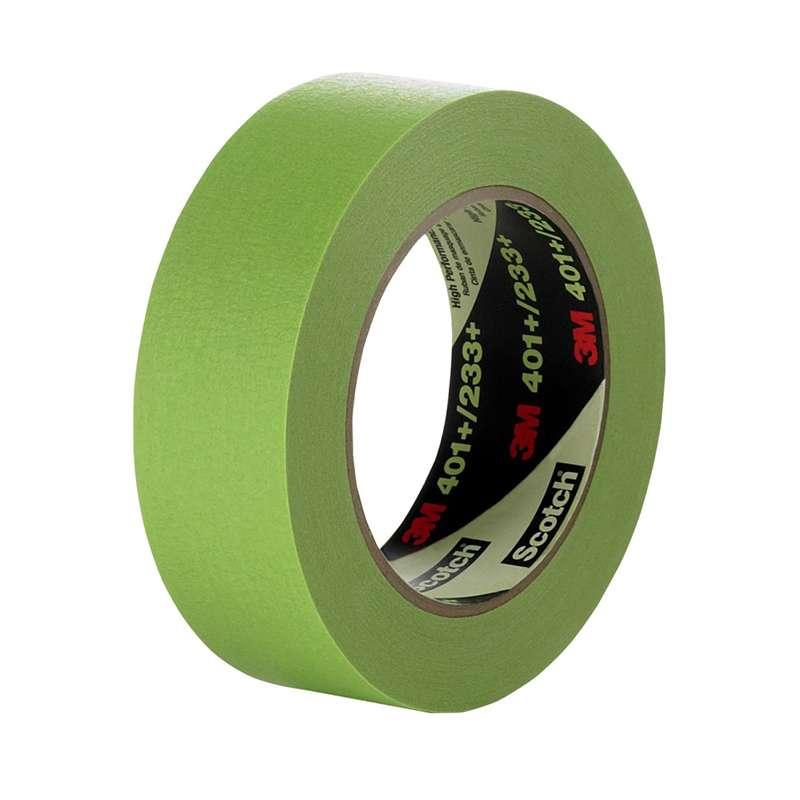 401+ High Performance Masking Tape, 24 mm x 55 m, Green