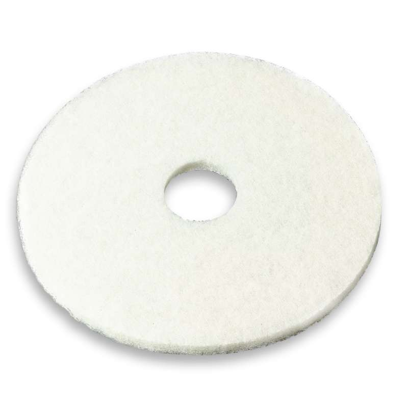3M™ White Super Polish Pad 4100, 19 in, 5/case