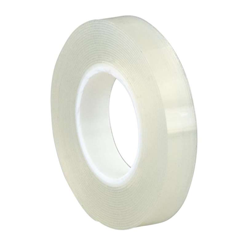 3M™ Double Coated Removable Foam Tape 4658F, Clear, 3/4 in x 27 yd, 31 mil, Film Liner, 2 rolls per case