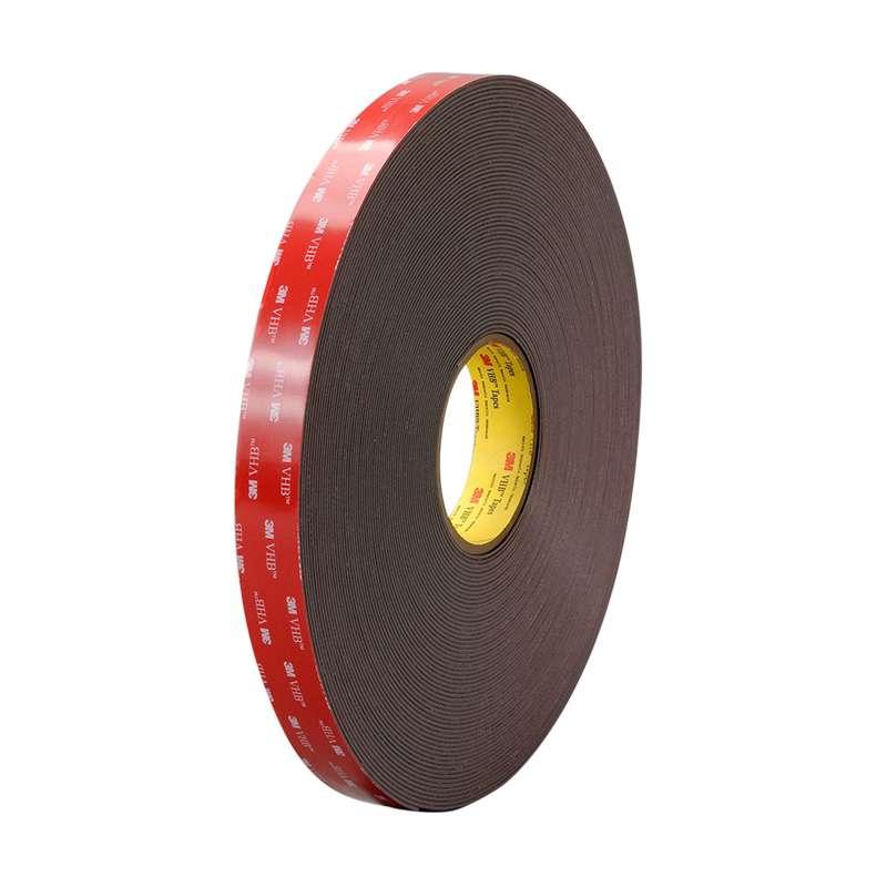 """3M™ VHB™ Black Tape 4979F, ½"""" x 108ft,4 Rolls per Case"""