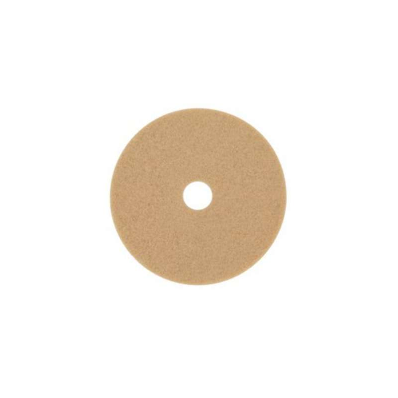 3M™ Tan Burnish Pad 3400, 19 in, 5/case
