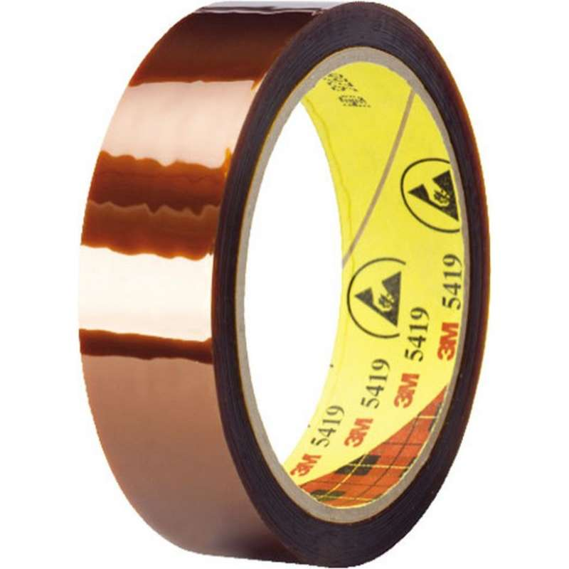 3M™ Low Static Polyimide Film Tape 5419 Gold, 3/8 in x 36 yd 2.7 mil, 24 per case Boxed