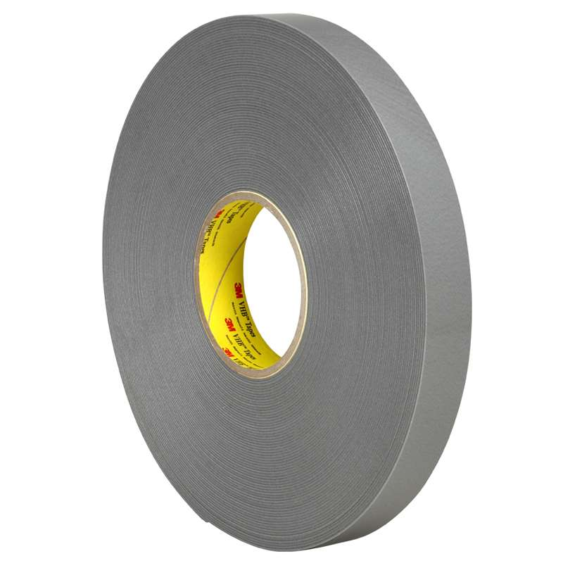 "3M™ VHB™ RP45F Gray Double-Sided Acrylic Foam Tape, 2"" x 36 yd x 45 mil, 8 rolls per case"