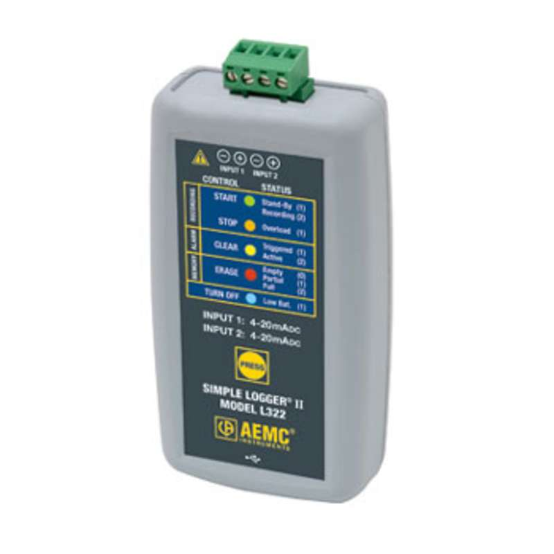 Model L322 Simple Logger™ II Current Data Logger 1-and 2-Channel with DataView™ Software