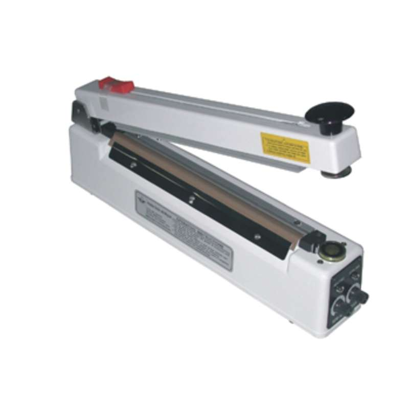 "Hand Operated 5mm Impulse Heat Sealer, with Magnetic Hold & Cutter, for 16"" Wide Bags and Tubing"