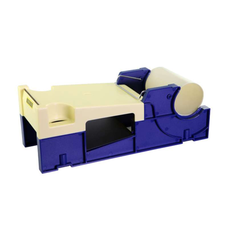 "Two Tone Plastic Tape Dispenser for 4"" Wide Tapes with a 3"" Core"