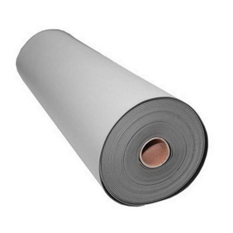"FT Series 2-Layer Diss/Cond Textured Heavy Duty Rubber Matting Roll without a Ground Cord or Snaps, Grey/Black, 24"" x 40' x .080"""