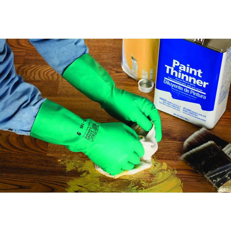 Solvex® Series 37-145 Chemical and Liquid Protection Gloves, Size 7