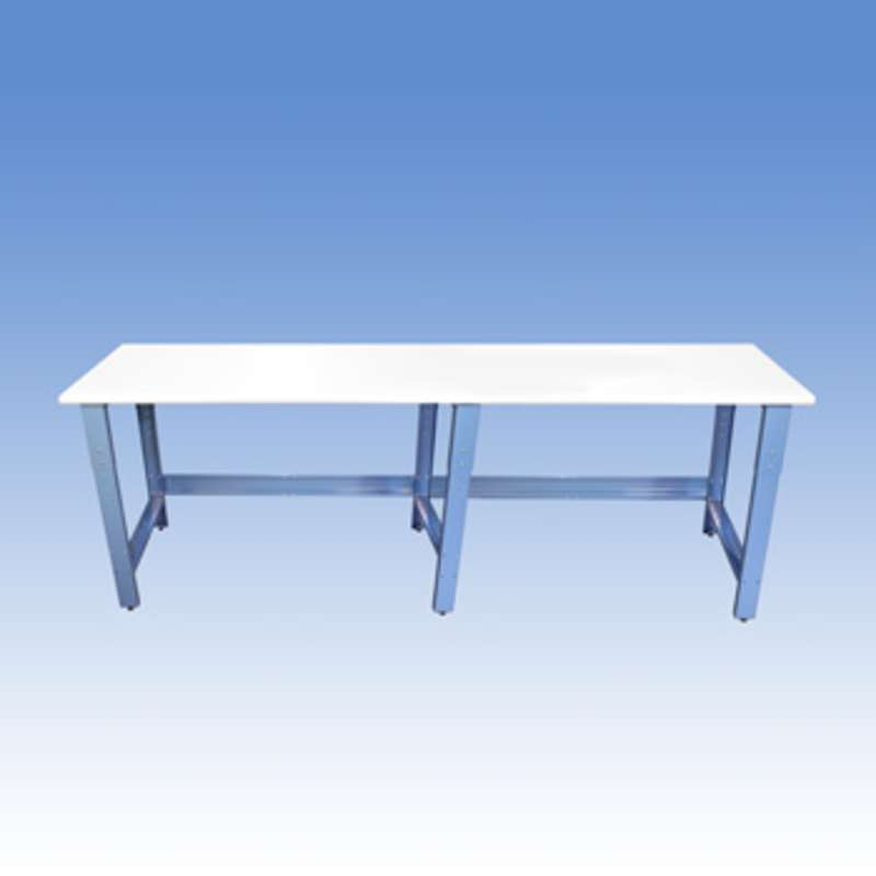 """Adjustable Height ESD-Safe Workbench with 1000 lb Weight Capacity, Rolled Front Edge and Glides, 24 x 96"""""""