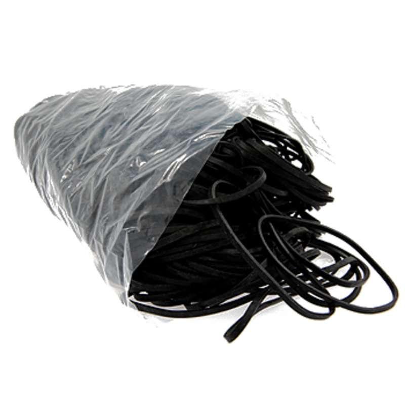 "Dissipative Black Rubber Bands, 1/8 x 5"", about 290 per Bag"