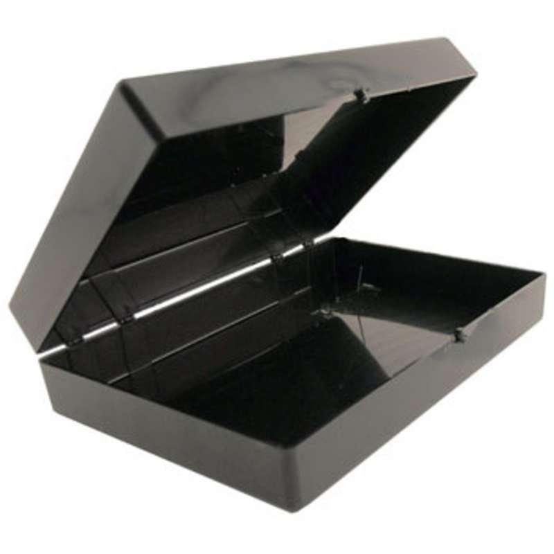 "Hinged Conductive Plastic Box, 7 x 5 x 1-3/4"""